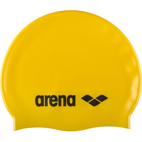 arena Classic Silicone Swimming Cap Kids yellow-black